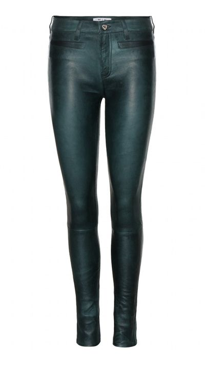 "<a href=""http://www.mytheresa.com/en-au/ellsworth-leather-trousers.html"" target=""_blank"">Trousers, $1179, MiH Jeans at mytheresa.com</a>"