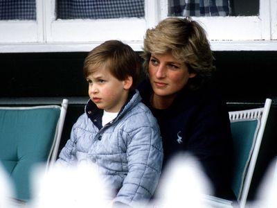 Prince William and Princess Diana, 1987