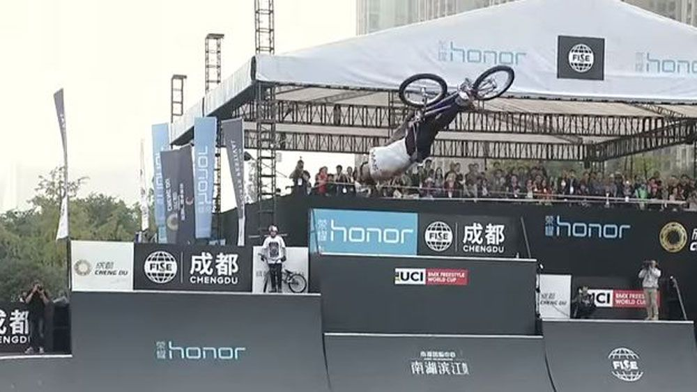 Australia's Logan Martin crowned inaugural BMX freestyle world champ after flawless display in Chengdu