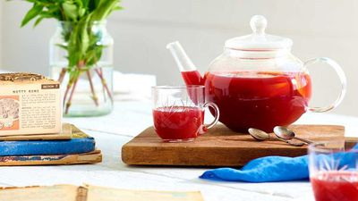 "Recipe: <a href=""https://kitchen.nine.com.au/2017/05/24/13/13/mulled-berry-and-peach-tea"" target=""_top"">Mulled berry and peach tea</a>"