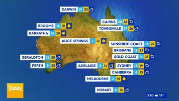 June 9 Weather map