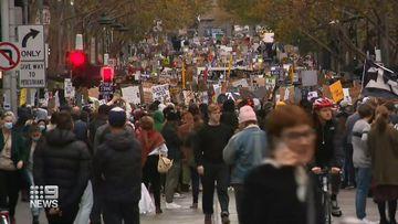Black Lives Matter protest through Melbourne CBD
