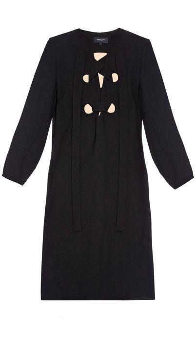 """<p><a href=""""http://www.matchesfashion.com/au/products/Derek-Lam-Lace-up-front-crepe-shift-dress-1020272"""" target=""""_blank"""">Dress, $2432, Derek Lam at matchesfashion.com</a></p>"""