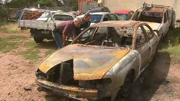Teens left 'shaken' after violent carjacking comes to fiery end