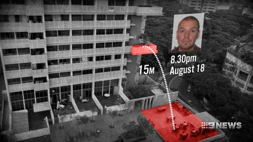 Australian IT specialist Andrew Gosling threw a $40 wine bottle 15 metres from a 7th floor balcony which hit and killed a Singaporean grandfather, Singapore Police allege.