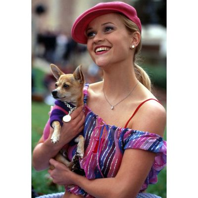 """<p><strong>4</strong>. When your conversation almost outshines your outfit - <em>Legally Blonde</em> 2001</p> <p>""""Last week I saw Cameron Diaz at Fred Segal, and I talked her out of buying this truly heinous angora sweater. Whoever said orange was the new pink was seriously disturbed.""""</p> <p>PS Can we also give Elle serious snaps for foreseeing the off-shoulder trend?!</p>"""