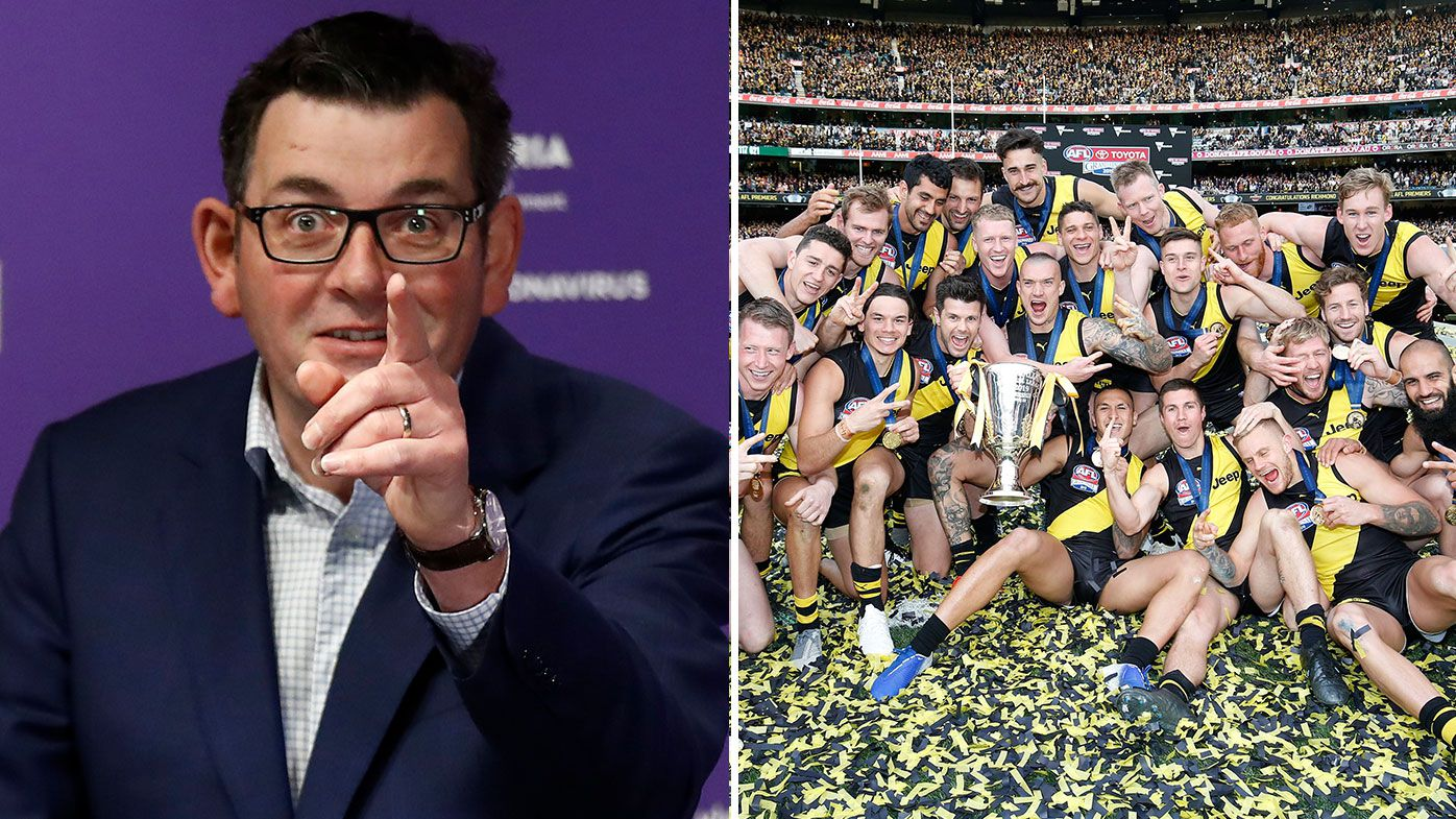 Victorian Premier Daniel Andrews, AFL discussing 2020 grand final location