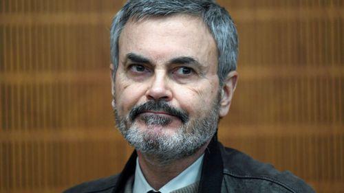 John Ausonius, nicknamed the 'laser man', in the Frankfurt court. (AP).