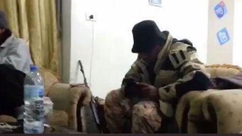 British terrorist Raymond Matimba was captured in the video. (The Telegraph UK)
