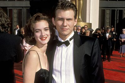 After starring in <i>Heathers</i> together, Winona Ryder and heartthrob Christian Slater got serious for a while.  But then she met Johnny Depp only a few months later.  Wino forever!