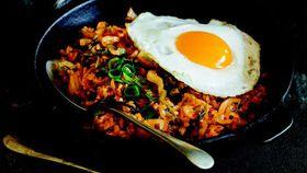Korean kimchi fried rice (kimchi bokkeum bap)