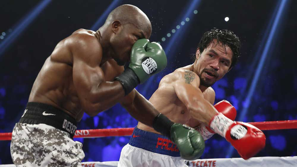 Manny Pacquiao is fighting Timothy Bradley for a third time. (AAP)