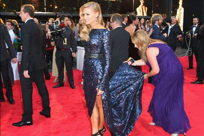 Meanwhile Sonia Kruger came prepared.<br/><br/>(Image: Getty)