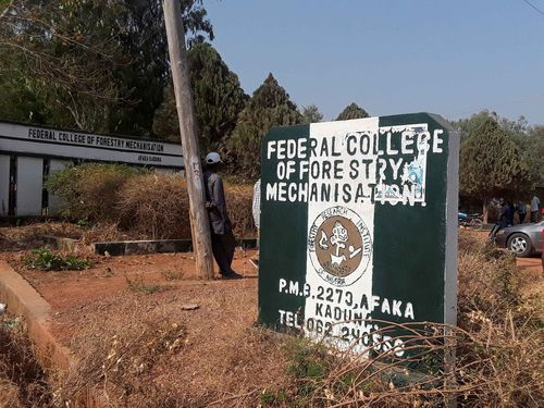 The Federal College of Forestry Mechanization in Kaduna, Nigeria, where gunmen abducted students, on March 12, 2021.