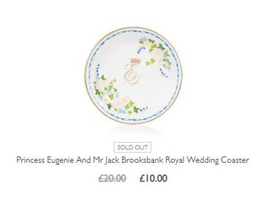 A coaster commemorating the wedding of Eugeine and Jack is still online despite being sold out.