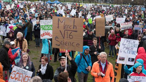 A march was held in Boston. (AFP)