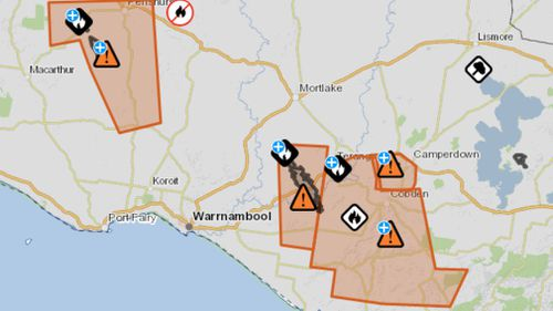 Danger warnings have been downgraded across the state. (Emergencies Victoria)