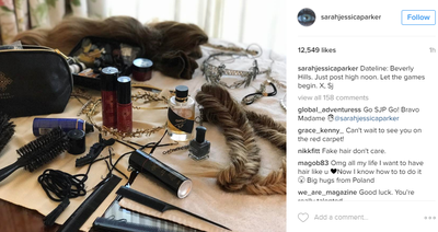 """<p>Sarah Jessica Parker posted this image pre-event. Yes, it takes this much gear to look that good.</p> <p>'Let the games begin,"""" she wrote.</p> <p>Image: <em>Instagram</em>/@sarahjessicaparker</p>"""