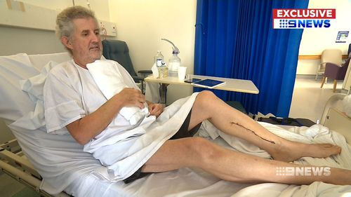 Bruce Riddell, 59, is recovering from a quadruple bypass performed less than a month ago. (9NEWS)