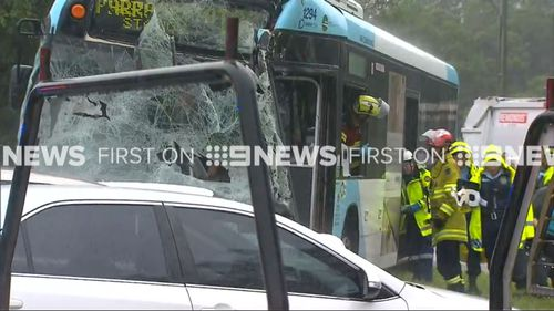 Fifteen people injured as garbage truck collides with bus in Sydney