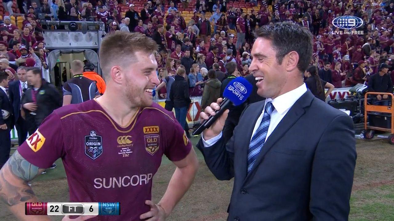 Cameron Munster speaks with Brad Fittler