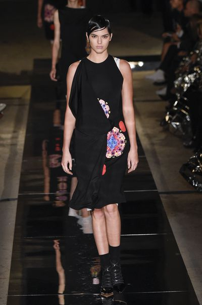 Kendall Jenner in Givenchy, spring/summer '17, Paris Fashion Week