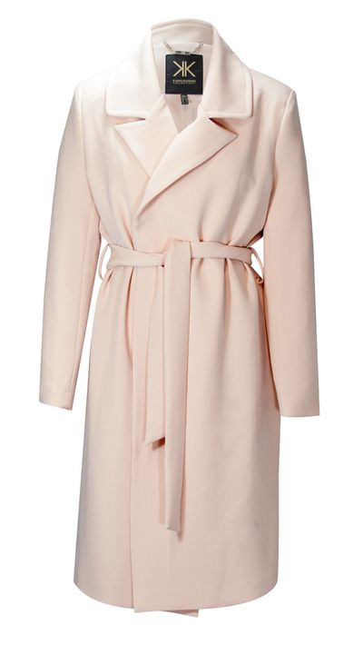 "<p><a href=""http://http://www.theiconic.com.au/Trench-Coat-209325.html"" target=""_blank"">Long Apricot Coat, $189, Kardashian Kollection</a></p>"