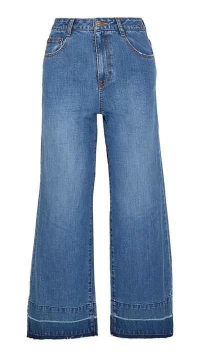 7. A pair of flared jeans