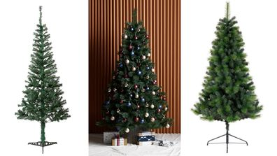Traditional Christmas trees for under $100.