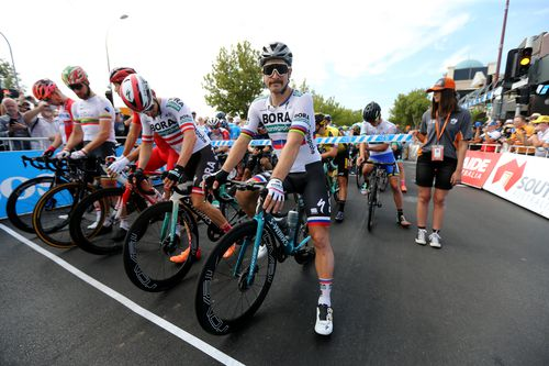 The Tour Down Under gets under way in sweltering conditions in South Australia.