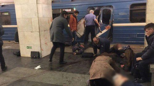 At least ten people have been killed after an explosion at a St Petersburg metro station. (Twitter)