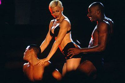 Madonna worked a very similar butt moment into her Girlie Show World Tour way back in 1993.