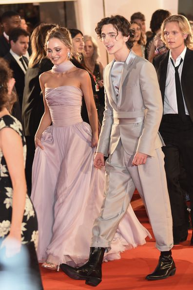 Lily-Rose Depp, Timothée Chalamet, The King, red carpet, Venice Film Festival