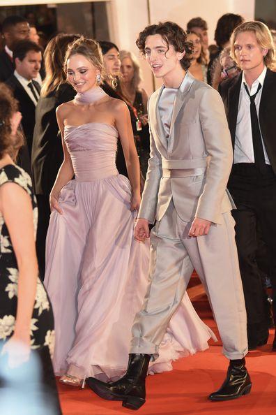 Lily-Rose Depp, Timothée Chalamet, The King, red carpet, Venice Film Festival