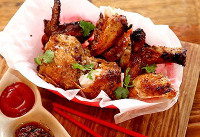 "Recipe: <a href=""http://kitchen.nine.com.au/2016/05/05/11/13/saigon-sallys-bia-can-chicken"" target=""_top"">Saigon Sally's bia can chicken</a>"