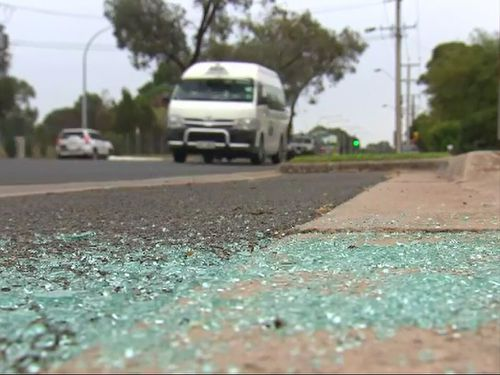 Children as young as nine have been caught allegedly throwing rocks at vehicles on an Adelaide expressway.