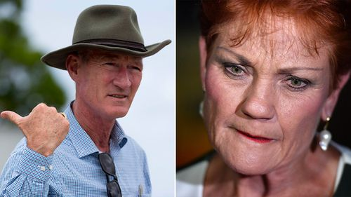 One Nation state leader Steve Dickson was comprehensively beaten in his bid to retain his seat of Buderim, but federal leader Pauline Hanson was still confident of a win elsewhere. (AAP)
