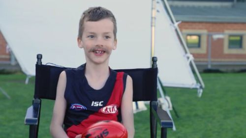 Jack, 7, is among a group of children who will star in NAB's Mini Legend's campaign. (9NEWS)