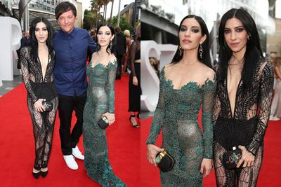 No fear, it's the twins in sheer! And they're with Ja'mie's Chris Lilley.
