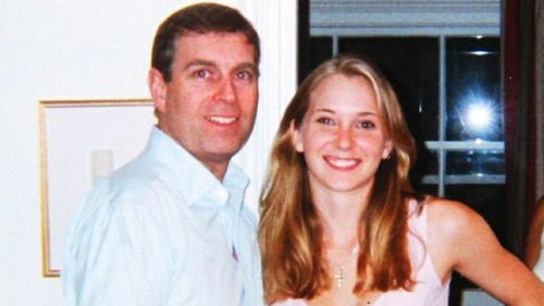 Prince Andrew with Virginia Roberts Giuffre in a widely circulated photo.