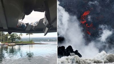 Exploding lava injures 23 after smashing into Hawaii tour boat