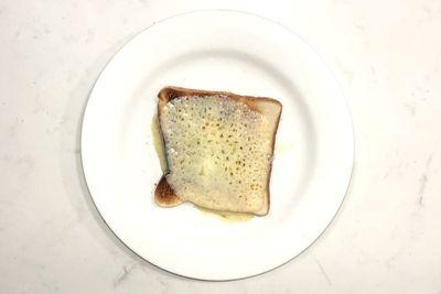Light cheese on toast: 169 calories