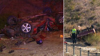 Baby killed in freeway crash