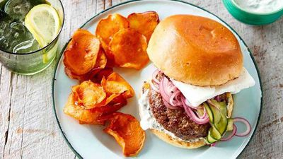 "Recipe: <a href=""http://kitchen.nine.com.au/2017/02/03/14/54/lamb-and-feta-burger-with-sweet-potato-crisps"" target=""_top"">Lamb and feta burger with sweet potato crisps</a>"