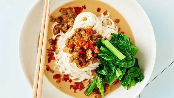 Pork dan dan noodles
