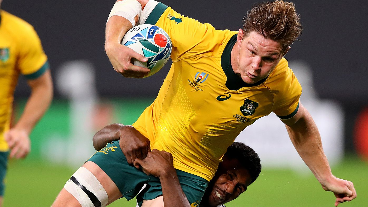 Michael Hooper sledge burns Fiji in Wallabies' World Cup fightback