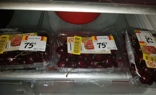 Delicious cherries at an even more scrumptious price. Picture: 9NEWS
