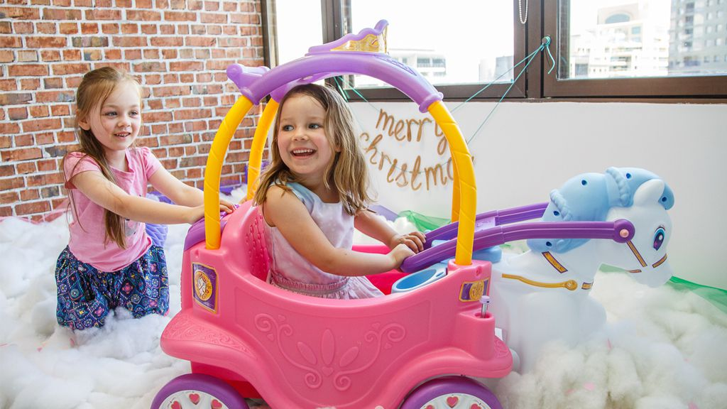 Toy story: This Little Tikes Princess Horse & Carriage is one of the top trending toy for Christmas. Image: supplied