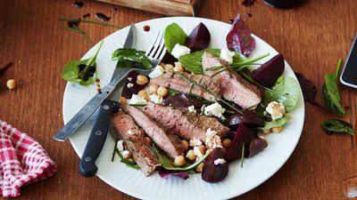 BBQ Beef, Beetroot, and Chickpea Salad