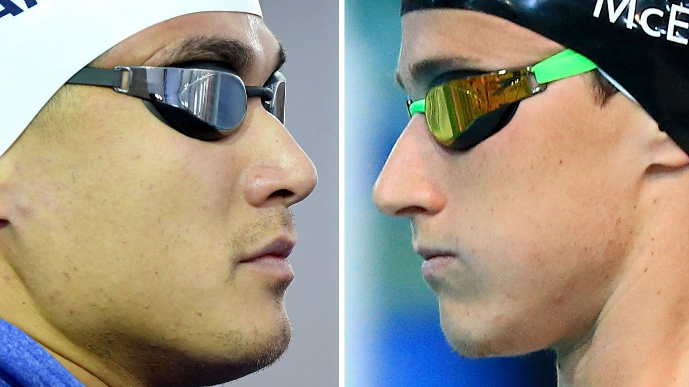 Nathan Adrian, left, and Cameron McEvoy (AAP and Getty)